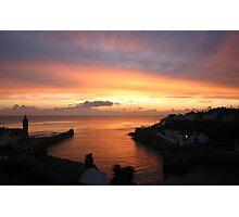 Porthleven Sunset Photographic Print