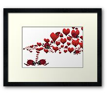 couple bugged by love Framed Print