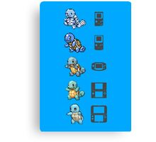 Squirtle Generations Canvas Print