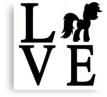 Love My Little Pony Canvas Print