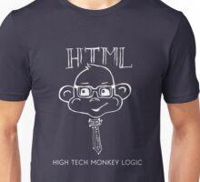 HTML High Tech Monkey Logic funny acronym White Unisex T-Shirt