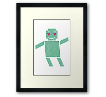 Robot in love Framed Print