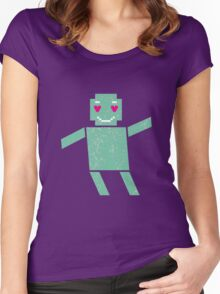 Robot in love Women's Fitted Scoop T-Shirt