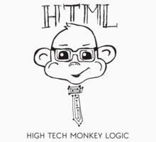 HTML High Tech Monkey Logic funny acronym One Piece - Short Sleeve