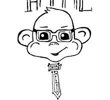 HTML High Tech Monkey Logic funny acronym by Ilze Lucero