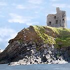 Castle ruins on the cliff by morrbyte