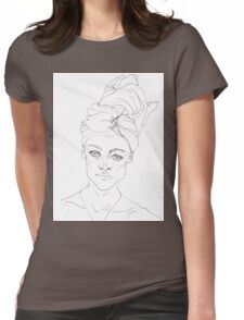 Portrait with Towel Womens Fitted T-Shirt