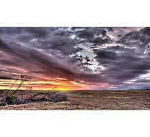 Fallen under a burning sky Photographic Print