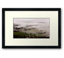 Mist gathering in the Severn valley near Malvern Framed Print