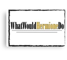 What Would Hermione Do Canvas Print