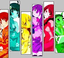 Female Chars from Monogatari Series by Revoltec17