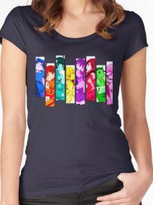Female Chars from Monogatari Series Women's Fitted Scoop T-Shirt