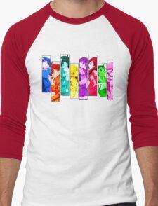Female Chars from Monogatari Series Men's Baseball ¾ T-Shirt