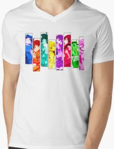 Female Chars from Monogatari Series Mens V-Neck T-Shirt