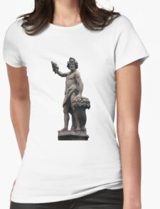 Italian Statue in Florence (isolated) Womens Fitted T-Shirt