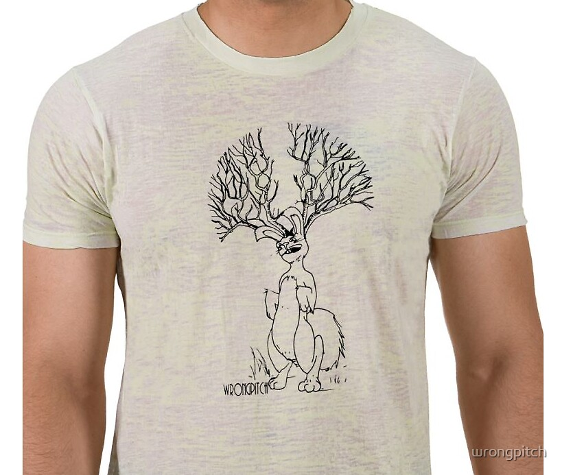 jackalope tee by wrongpitch