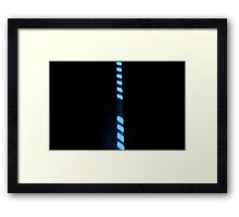 Line Up - Blue Framed Print