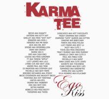 KISS KISS WITH NAMES...... by KARMA TEES  karma view photography