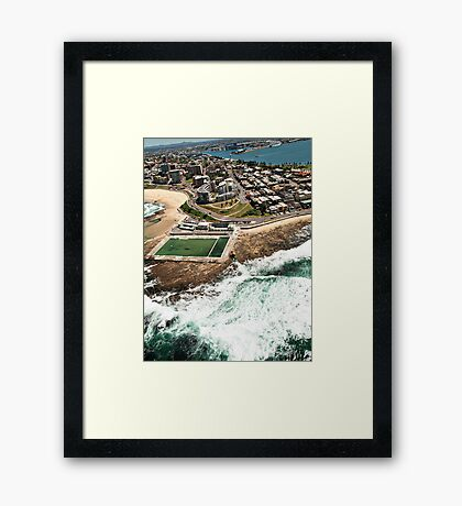 Newcastle Aerial View Framed Print