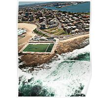 Newcastle Aerial View Poster