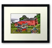 a classic pile Framed Print
