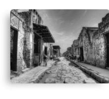 Pompeii B&W!! Canvas Print
