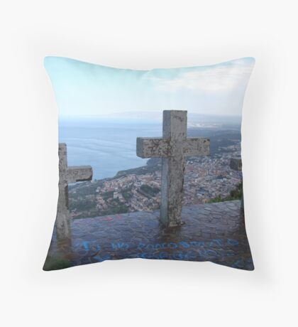 Watching Over Paradise Throw Pillow