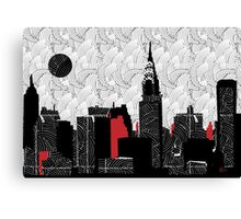 New York City Skyline Swing  Canvas Print