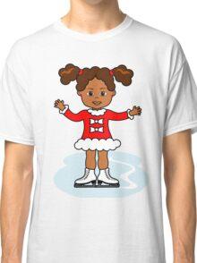 Ice Skater Girl Cute Red Dress Classic T-Shirt