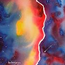 Galaxy Winds at the Edge......Watercolor by Kevin McGeeney