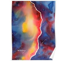Galaxy Winds at the Edge......Watercolor Poster