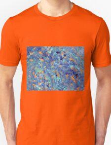 Blue & Copper Art  Unisex T-Shirt