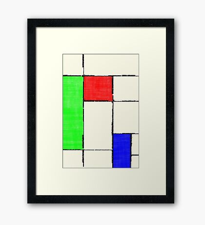Mondrian 2000 Framed Print