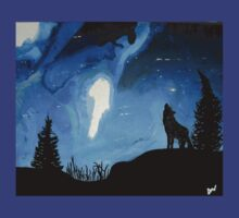 Der wolf und sein Nordlicht (WBBseries) (The wolf and his Northern Lights) by DwPaintings