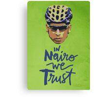 In Nairo We Trust : Illustration on Movistar Green Canvas Print