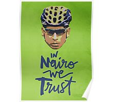 In Nairo We Trust : Illustration on Movistar Green Poster