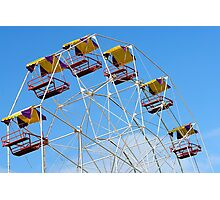 Bright Colourful Ferris Wheel Photographic Print