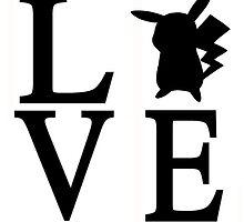 Love Pikachu Pokemon by minimonkeymouse