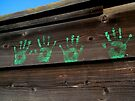 """ Little Ghost Hands "" Handprints by waddleudo"