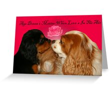 Age Doesn't Matter When Love's In The Air Greeting Card