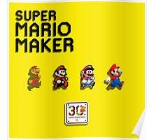 Mario Generations - Super Mario Maker Poster