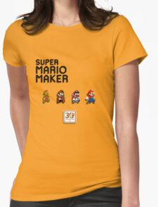 Mario Generations - Super Mario Maker Womens Fitted T-Shirt