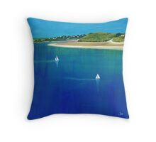 Sailing from Rock, Daymer Bay Throw Pillow