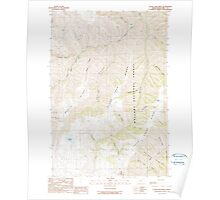 USGS Topo Map Oregon Clear Lake Ridge 279368 1990 24000 Poster