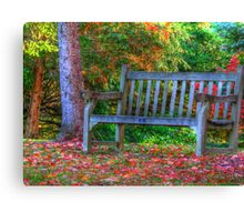 Bench for Two  Canvas Print
