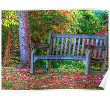 Bench for Two  Poster