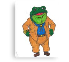 Frog Lawyer Canvas Print