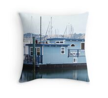 Life afloat in Sausalito Throw Pillow