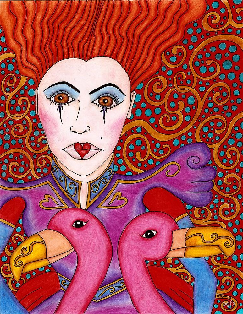 Red Queen Portrait by Octavio Velazquez