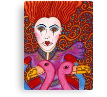 Red Queen Portrait Canvas Print
